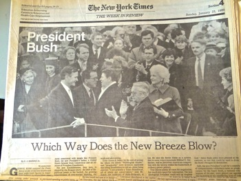 bush inauguration chicago tribune
