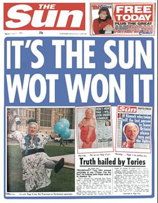murdoch sun london times fake news propaganda