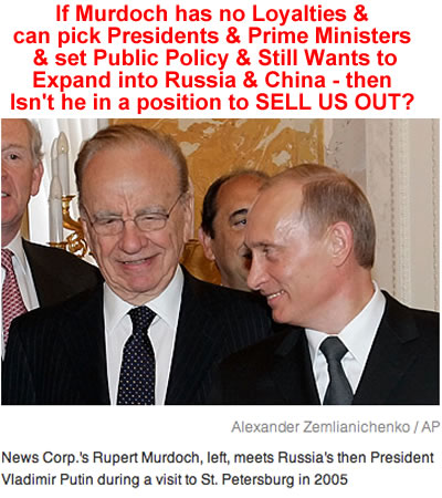 murdoch communists putin photos
