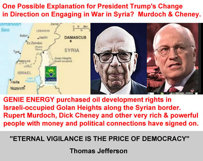 genie energy and golan heights oil fields illegal golan heights oil fields syria genie energy dick cheney rupert murdoch