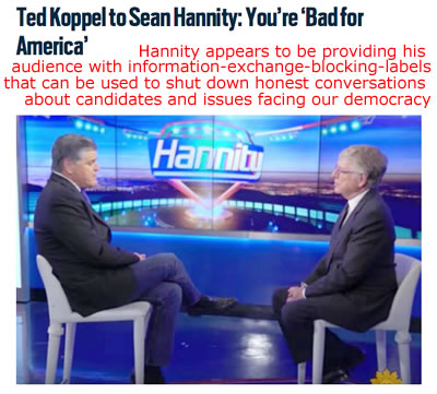 ted koppel tells hannity he's bad for america fox news hannity bad for america ted koppel