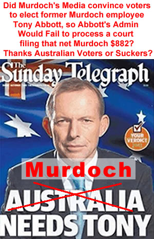 murdoch's sunday telegraph tony abbot endorsement australia media