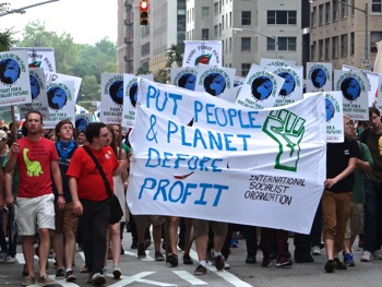 climate march photos nyc