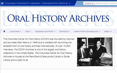 columbia university center for oral history
