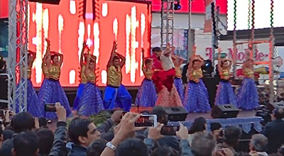photos diwali times square