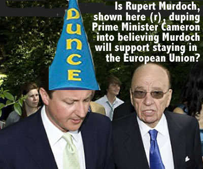 david cameron deceived by newscorp propagandist murdoch