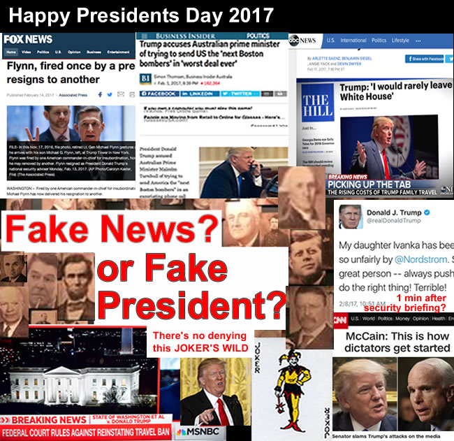 fake news or fake president