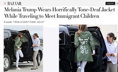 melania trump character i don't care do you when visiting immigrant children marie antoinette melania trump and children