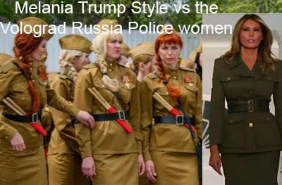 melania trump in russian volograd like police women's outfit at the republican national convention rnc 2020