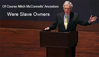 republican national convention speech by descendant of slave owners mitch mcconnell senate majority leader ancestors slave owners