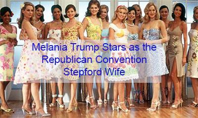 melania trump trump's stepford wife at rnc republican convention 2020 melania trump phonies