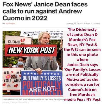 andrew cuomo's troubles nursing homes harassment governor cuomo murdoch fox wsj ny post