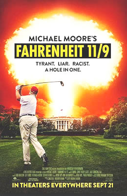 Michael Moore's Film Fahrenheit 11/9 | michael moore fahrenheit 11/9 michael moore movie september 2018 about donald trump  running for president trump campaign for president 2016 in film by michael moore farenheit 119