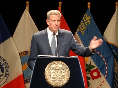 Mayor de Blasio's State of the City Address 2016 NYC | mayor de blasio state of the city address 2016 lehman college bronx ms 223 bronx state of nyc address 2016