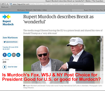 Fox News Propaganda: How Murdoch Made Trump President | rupert murdoch fox news made trump president how murdochs fox news ny post wsj propaganda made trump president