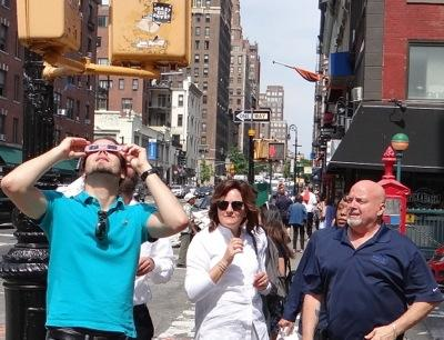 nyc solar eclipse photos nyc 2017