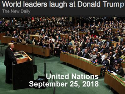 pinocchio president trump addresses united nations they laugh at him lying pinocchio president donald trump