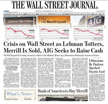 wsj bush financial crisis 2008