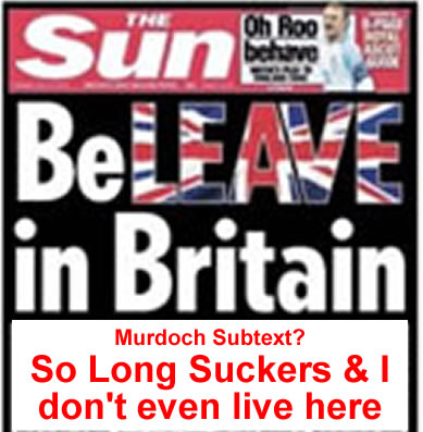 sun supports brexit vote sun says queens supports brexit vote
